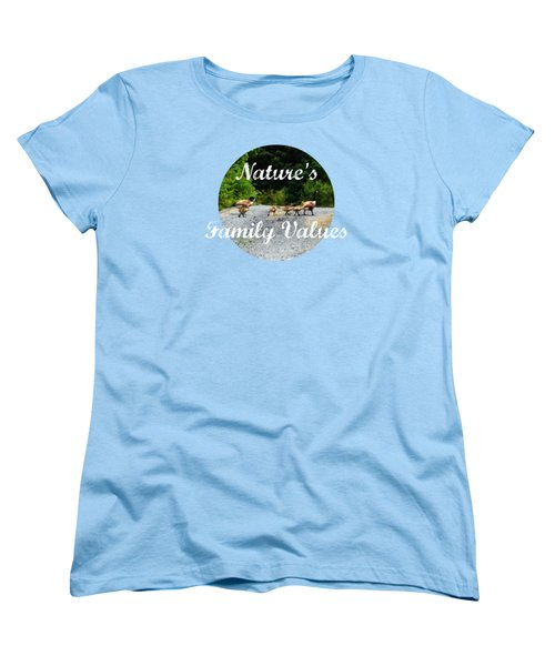 Goose Family Women's T-Shirt (Standard Cut) by Anita Faye