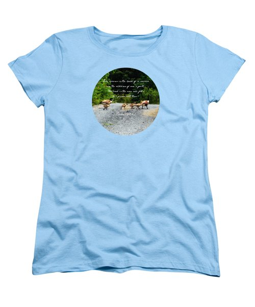 Goose Family - Verse Women's T-Shirt (Standard Cut) by Anita Faye