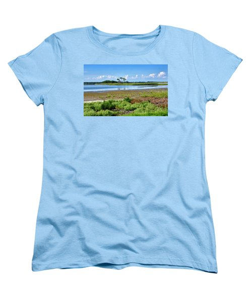 Gordons Pond At Cape Henlopen State Park - Delaware Women's T-Shirt (Standard Cut) by Brendan Reals