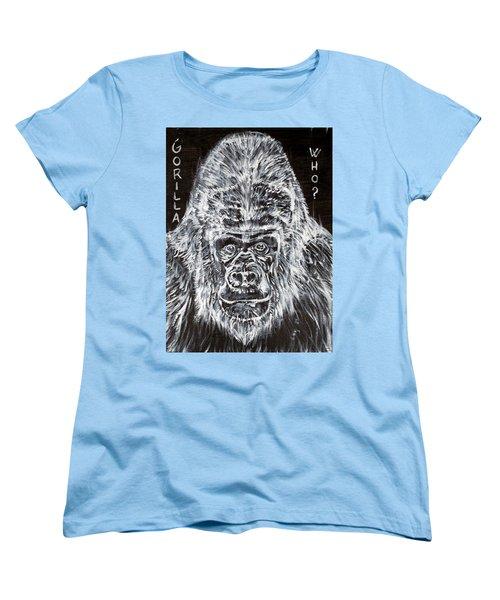 Women's T-Shirt (Standard Cut) featuring the painting Gorilla Who? by Fabrizio Cassetta