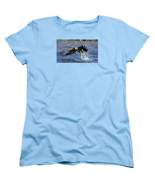 Women's T-Shirt (Standard Cut) featuring the photograph Grabbing Some Dinner by Coby Cooper