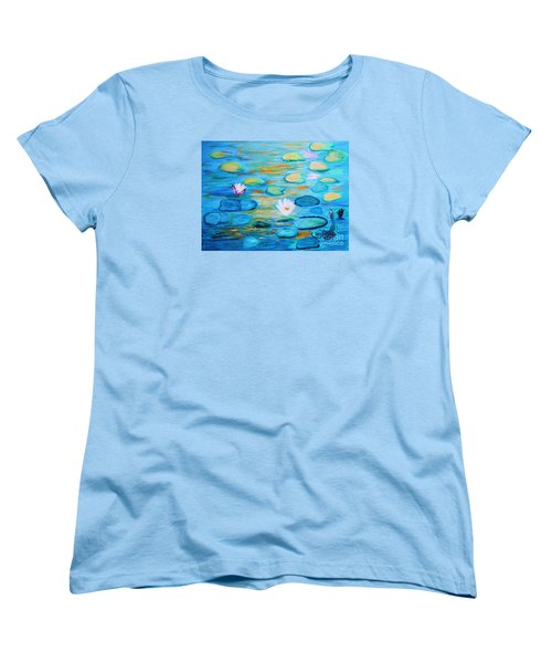 Graceful Pond From The Water Series Women's T-Shirt (Standard Cut) by Donna Dixon