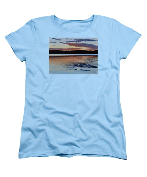 Women's T-Shirt (Standard Cut) featuring the painting Graham Lake by Kenneth M Kirsch