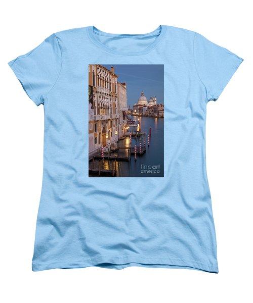 Women's T-Shirt (Standard Cut) featuring the photograph Grand Canal Twilight II by Brian Jannsen