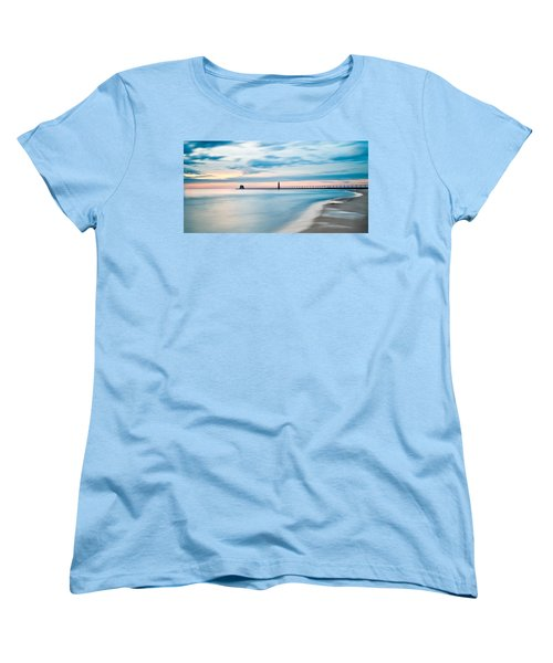 Grand Haven Pier - Smooth Waters Women's T-Shirt (Standard Cut) by Larry Carr