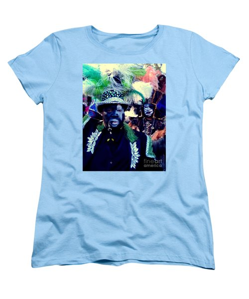Grand Marshall Of The Zulu Parade Mardi Gras 2016 In New Orleans Women's T-Shirt (Standard Cut) by Michael Hoard