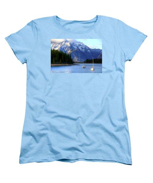 Grand Tetons Women's T-Shirt (Standard Cut) by Charlotte Schafer