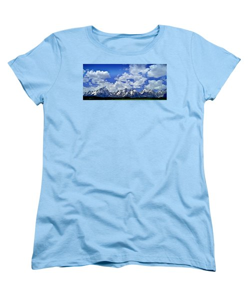 Grand Tetons Women's T-Shirt (Standard Cut) by Ellen Heaverlo