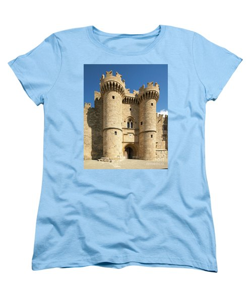 Grandmaster Palace Rhodes Island Greece 1 Women's T-Shirt (Standard Cut) by Rudi Prott