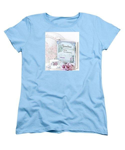 Grandmother...tell Me Your Memories Women's T-Shirt (Standard Cut) by Sherry Hallemeier