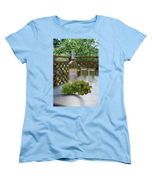 Grapes And Wine Women's T-Shirt (Standard Cut) by Gordon Mooneyhan
