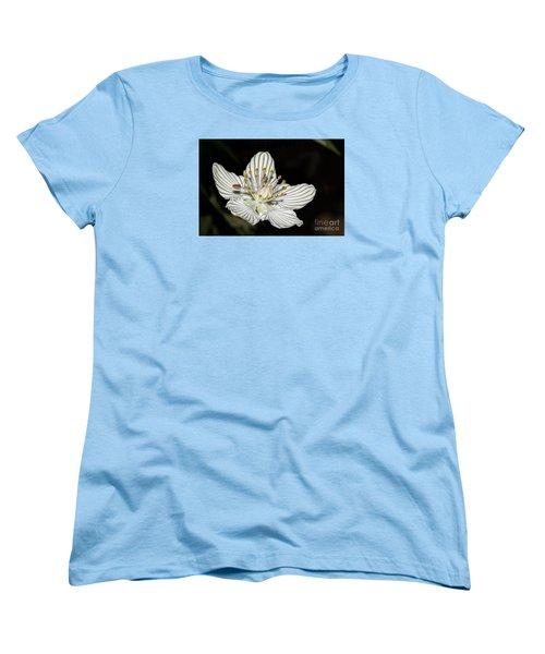 Women's T-Shirt (Standard Cut) featuring the photograph Grass Of Parnassus by Barbara Bowen