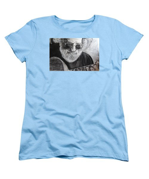 Women's T-Shirt (Standard Cut) featuring the drawing  Grateful Dude by Eric Dee