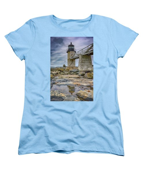 Women's T-Shirt (Standard Cut) featuring the photograph Gray Day At Marshall Point by Rick Berk