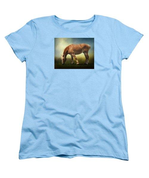 Grazing Belgian Women's T-Shirt (Standard Cut) by David and Carol Kelly