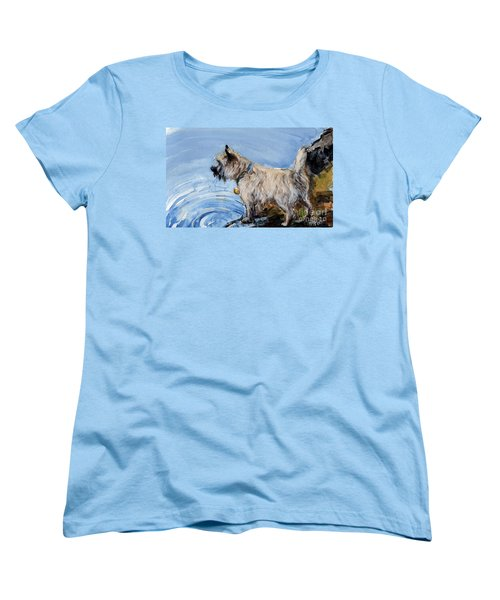 Women's T-Shirt (Standard Cut) featuring the painting Great Bay by Molly Poole