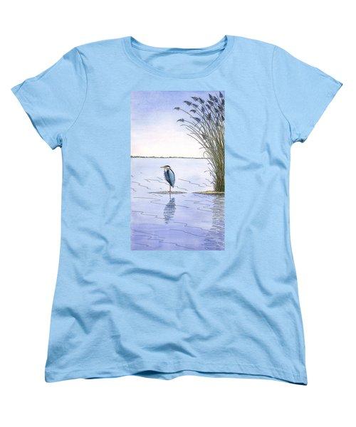 Great Blue Heron Women's T-Shirt (Standard Cut) by Charles Harden