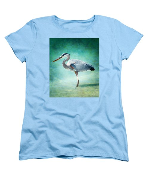 Great Blue Heron Women's T-Shirt (Standard Cut) by Ellen Heaverlo