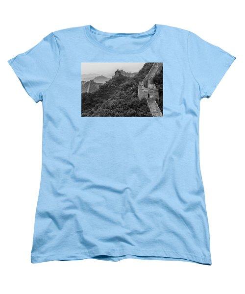 Women's T-Shirt (Standard Cut) featuring the photograph Great Wall 3, Jinshanling, 2016 by Hitendra SINKAR