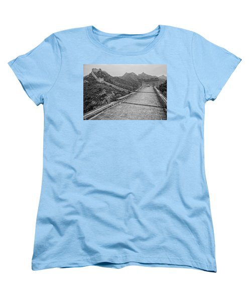 Women's T-Shirt (Standard Cut) featuring the photograph Great Wall 5, Jinshanling, 2016 by Hitendra SINKAR