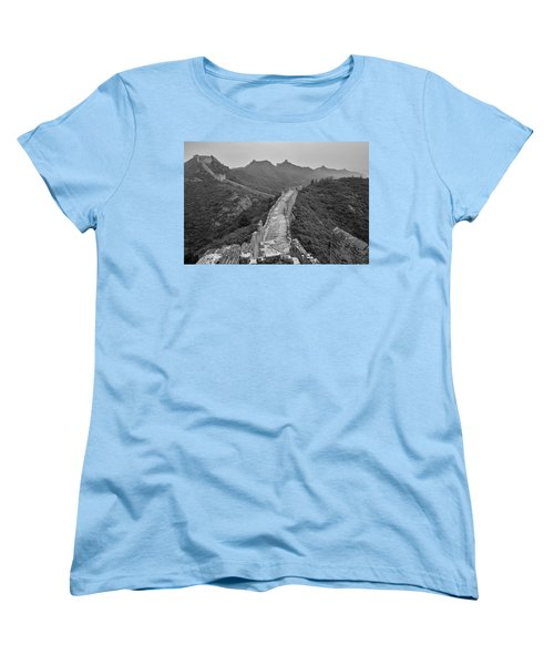 Women's T-Shirt (Standard Cut) featuring the photograph Great Wall 6, Jinshanling, 2016 by Hitendra SINKAR