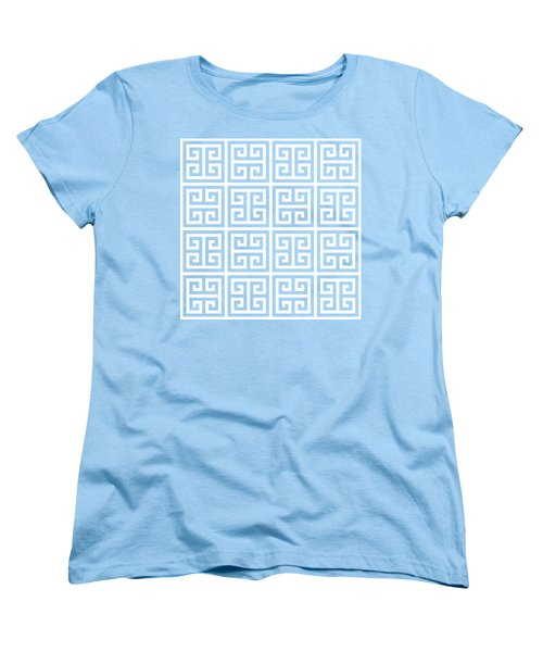 Women's T-Shirt (Standard Cut) featuring the digital art Greek Pattern 2 - Chuck Staley by Chuck Staley