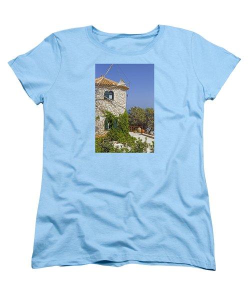 Greek Windmill Women's T-Shirt (Standard Cut) by Rainer Kersten