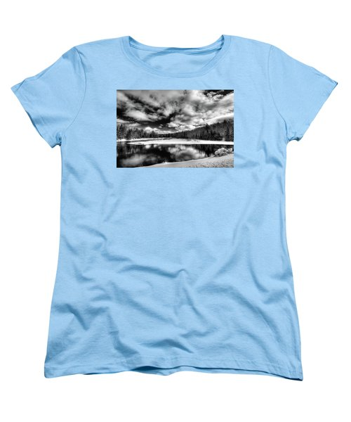 Women's T-Shirt (Standard Cut) featuring the photograph Green Bridge Solitude by David Patterson