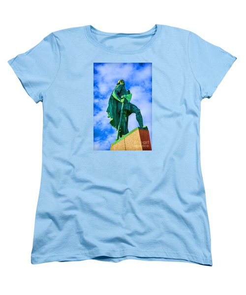 Women's T-Shirt (Standard Cut) featuring the photograph Green Leader by Rick Bragan