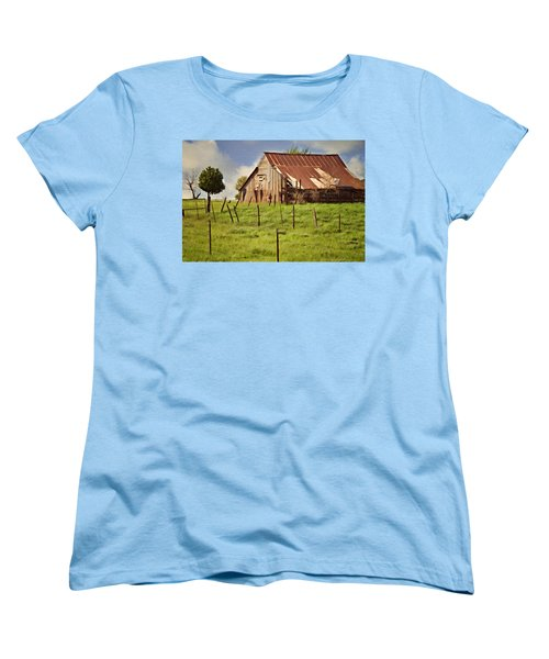 Women's T-Shirt (Standard Cut) featuring the photograph Green Pastures by Lana Trussell