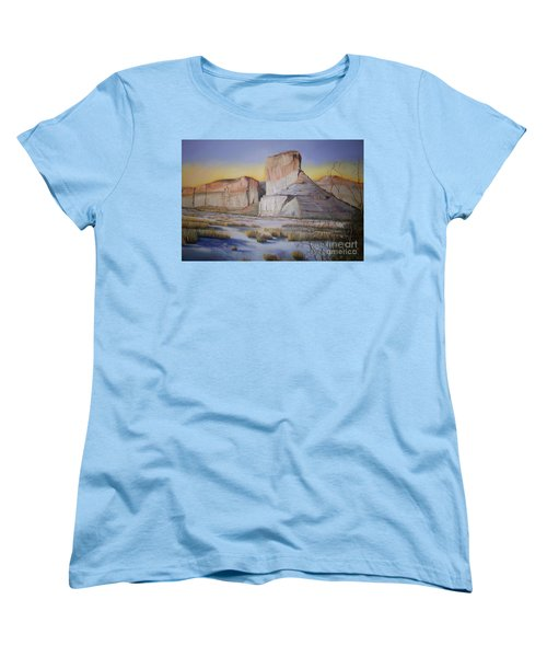 Women's T-Shirt (Standard Cut) featuring the painting Green River Wyoming by Marlene Book