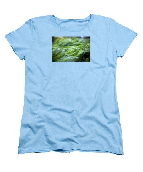 Green Waterfall 1 Women's T-Shirt (Standard Cut) by Serene Maisey