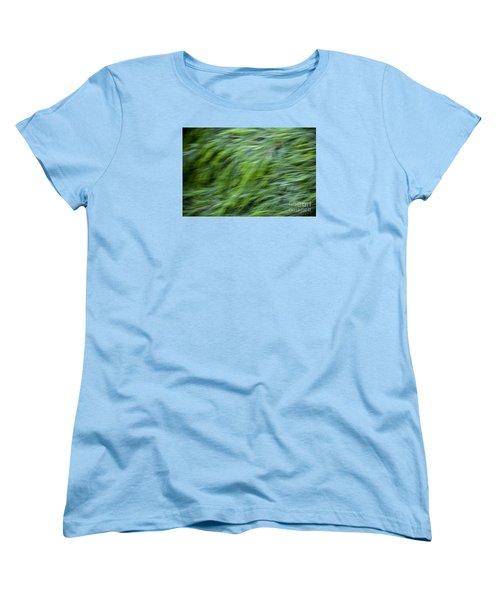 Green Waterfall 2 Women's T-Shirt (Standard Cut) by Serene Maisey
