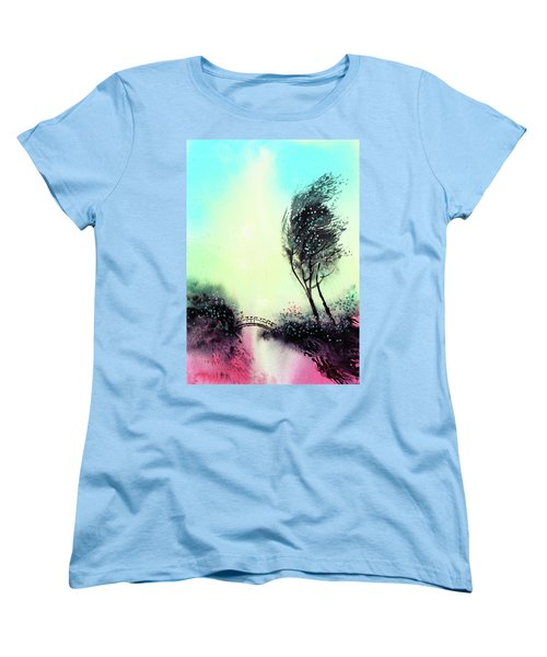Women's T-Shirt (Standard Cut) featuring the painting Greeting 1 by Anil Nene