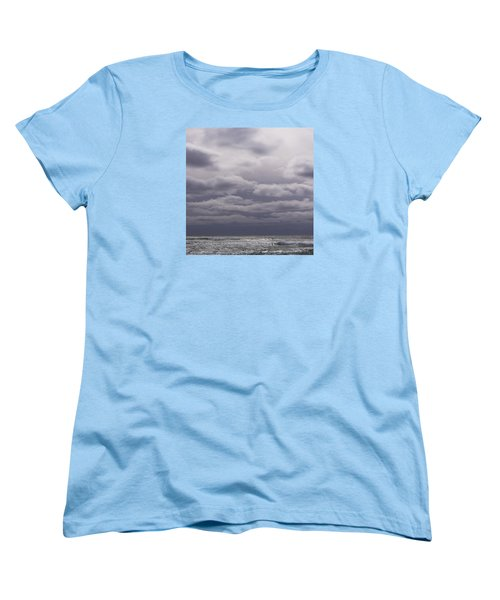 Women's T-Shirt (Standard Cut) featuring the photograph Grey Horizon by Adria Trail