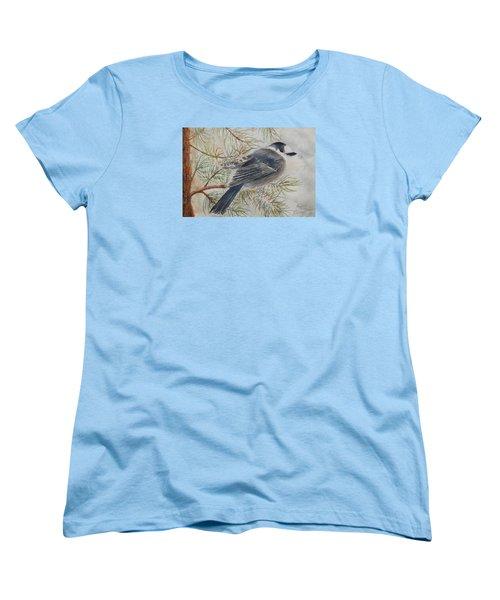 Grey Jay Women's T-Shirt (Standard Cut) by Ruth Kamenev