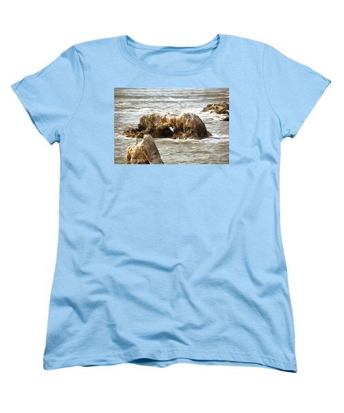 Women's T-Shirt (Standard Cut) featuring the photograph Grey Water At Window Rock by Barbara Snyder