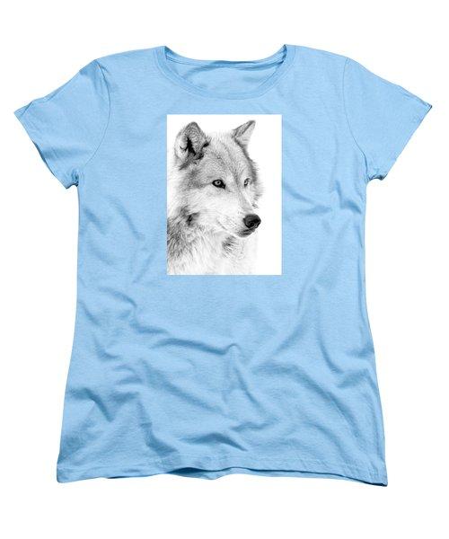 Grey Wolf Profile Women's T-Shirt (Standard Cut) by Athena Mckinzie