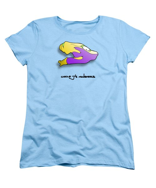 Women's T-Shirt (Standard Cut) featuring the drawing Gro by Uncle J's Monsters