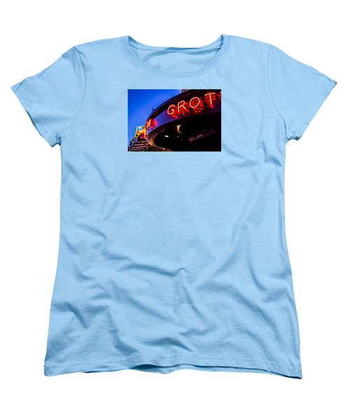 Grotto - Night View Women's T-Shirt (Standard Cut) by Lora Lee Chapman