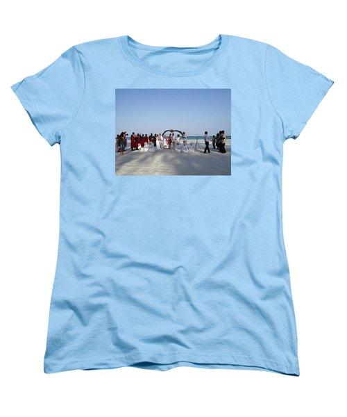 Group Wedding Photo Africa Beach Women's T-Shirt (Standard Fit)