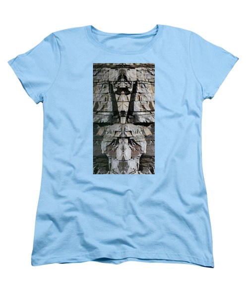 Women's T-Shirt (Standard Cut) featuring the photograph Guardians Of The Lake by Cathie Douglas