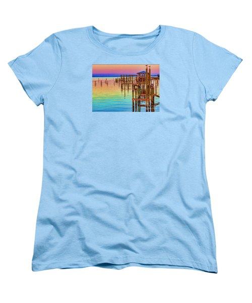 Guarding The Dock Women's T-Shirt (Standard Cut) by Roberta Byram