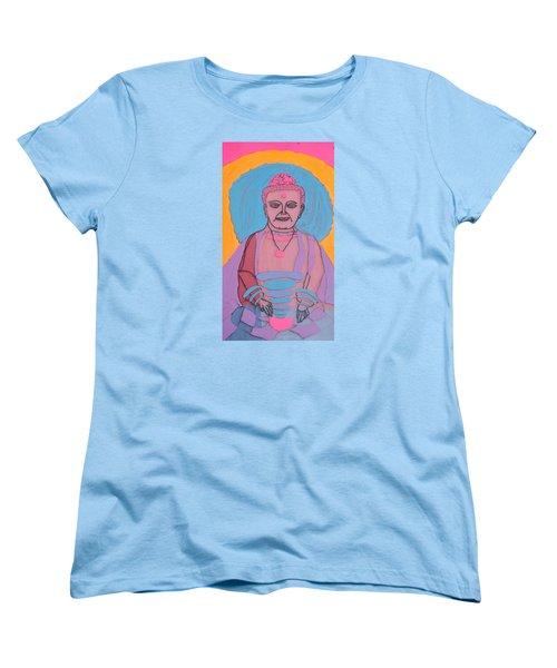 Women's T-Shirt (Standard Cut) featuring the painting Guatama Buddha by Don Koester