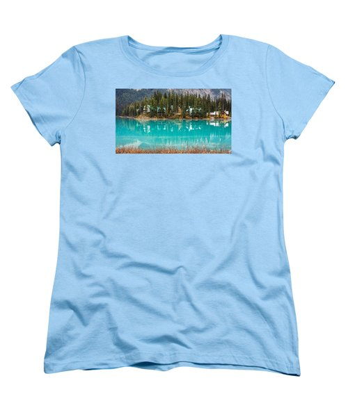 Women's T-Shirt (Standard Cut) featuring the photograph Emerald Lake by Pierre Leclerc Photography