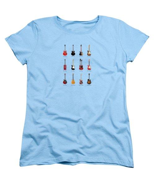 Guitar Icons No1 Women's T-Shirt (Standard Cut) by Mark Rogan