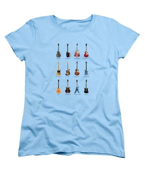 Guitar Icons No2 Women's T-Shirt (Standard Cut) by Mark Rogan
