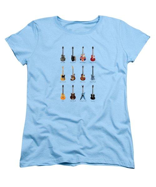 Guitar Icons No3 Women's T-Shirt (Standard Cut) by Mark Rogan