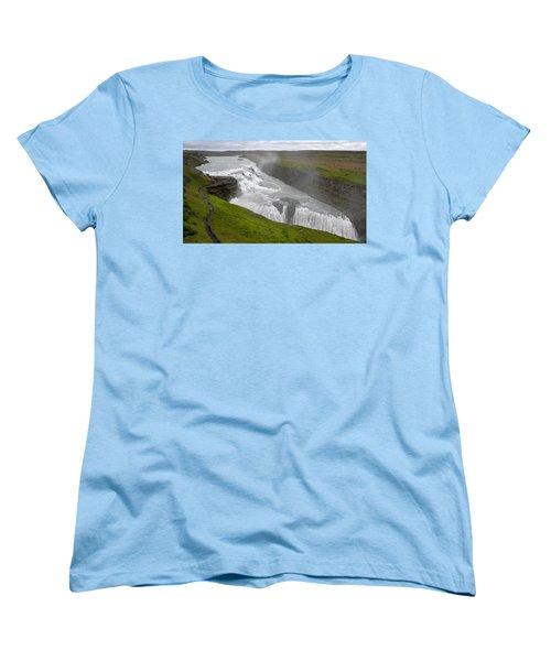 Women's T-Shirt (Standard Cut) featuring the photograph Gullfoss Waterfall No. 2 by Joe Bonita