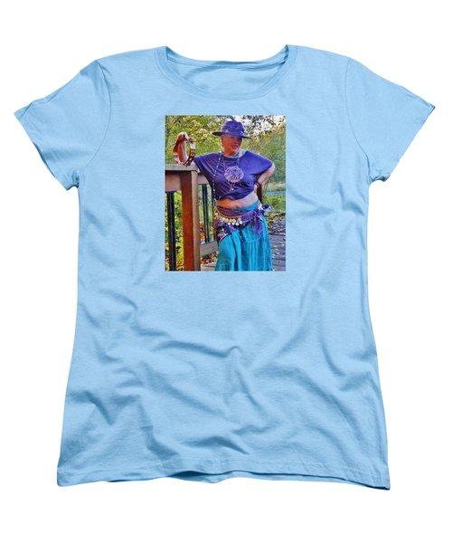 Gypsy Belly-dancer Women's T-Shirt (Standard Cut) by VLee Watson